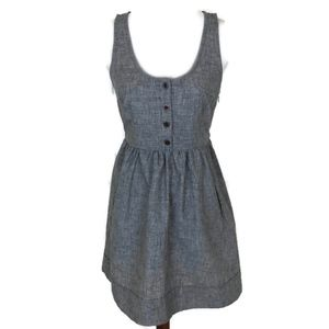 ANTHROPOLOGIE COPE Gray Sleeveless Linen Dress